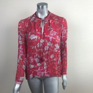 Lucky Brand Woman Top Blouse Sz M